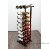 Cremalheira do vinho do indicador do assoalho 27-Bottle do metal do armazenamento da loja