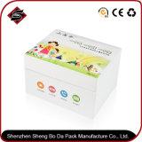 Rectángulo de almacenaje de empaquetado de papel modificado para requisitos particulares de la insignia para los productos electrónicos