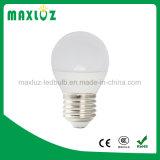 Alluminio dell'indicatore luminoso di lampadina di luce del giorno 3W LED ed indicatore luminoso del globo della plastica