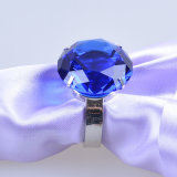 80mm Big Clear Crystal Diamond Napkin Ring für Decoration