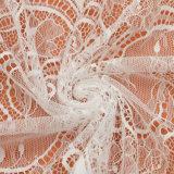 一義的な花デザイン織物のフランスのレースファブリック厚いレースファブリック
