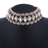 Fashion Luxury Glittering Full Rhinestone Collar Choker Necklace Jewelry