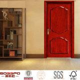 Style de porte d'intérieur avant en acier massif en acajou en bois (GSP2-026)