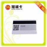 Cartão fino em branco do PVC para a microplaqueta e a listra magnética