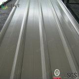 Hoja de acero galvanizada acanalada color del material para techos del hierro con precio