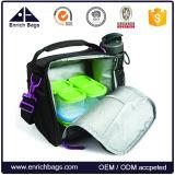 Portable Office aislamiento del refrigerador del almuerzo bolsa con soporte para botella