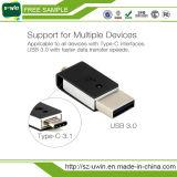 Tipo-c palillo de la memoria del mecanismo impulsor de la pluma de Pendrive 16GB 32GB 64GB del mecanismo impulsor 3.1 del flash del USB