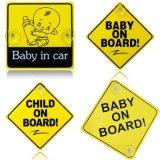 흡입 컵 차량안전 밝은 아이 널 차 표시를 가진 아이 선내에 차 표시