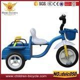 子供のためのハンドル棒そして二重シートの小型三輪車を使って