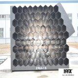 Tubo Shaped hexagonal de la fibra de vidrio para el sistema de Wesp