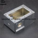 솔질된 금속 주거 소켓 쉘을 기계로 가공하는 Hardware/CNC