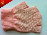 분홍색 면 작동 장갑