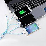 1개의 다기능 유니버설 USB 충전기 케이블에 대하여 4