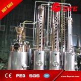 destilador de cobre vermelho do sistema da destilação do álcôol do rum da vodca da gim do conhaque 1000L
