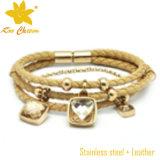 Bracelete da curvatura do couro da venda por atacado da jóia da forma Stbl-026