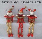 Ressort à jambes avec le chapeau de cadeau, décoration d'Asst-Noël 3