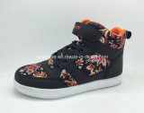 Горячие ботинки девушок PU сбывания высоко верхние вскользь на зима