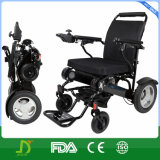 Cadeira de rodas elétrica de alumínio do curso ultra claro com bateria de lítio