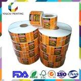 カスタム製品のラベルの印刷の熱転写紙の接着剤によって印刷されるステッカー