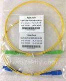 G657. Cordon de connexion recto de fibre optique de B3 Sc/Upc/APC