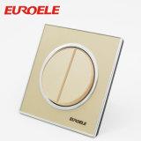 Interruptor asombroso de la pared de la cuadrilla del acrílico 2 del color del oro del producto