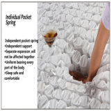 Colchón de resorte del bolsillo de cubierta de tela de la franela de algodón con los altos muebles /Fb600 del hotel de la espuma de la resistencia