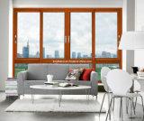 El último diseño Metel barato doble acristalamiento ventana de aluminio deslizante (CL-W1012)