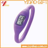 주문 고품질 형식 실리콘 시계 (YB-HR-81)