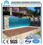 Acrylswimmingpool mit transparentem Plexiglaspanel