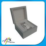 주문 로고 밝은 회색 래커 나무로 되는 시계 선물 상자