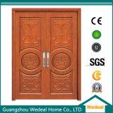 Personnaliser la porte en bois solide de chêne rouge de qualité