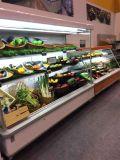 スーパーマーケットのマルチデッキの開いた前部スリラー