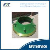 Schiacciamento delle parti del frantoio del cono delle attrezzature minerarie HP/Gp/H/CS