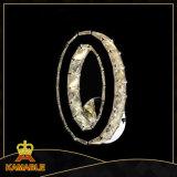 Cristal de la decoración del pasillo del hotel y luz de lujo de la pared del acero inoxidable LED (KA10023-B)