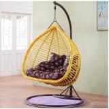 Cadeira ao ar livre nova do ovo do balanço, mobília do Rattan do PE, dobro Seater da cesta do Rattan (D152A)