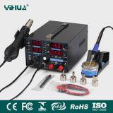 Yihua 853D 1A 4LED avec le téléphone mobile d'air chaud de 5V USB réparant la station de soudure