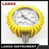 Calibrador de presión del vacío de 004 fábricas con caucho amarillo