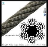 Linha de broca de corda de fio brilhante Fiber Core 6X21