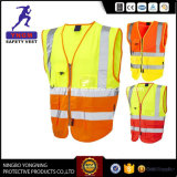 Het Goedkope Weerspiegelende Hoge Vest van uitstekende kwaliteit van de Veiligheid van het Zicht Weerspiegelende