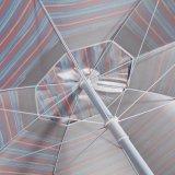 Gemaakte hand - 6 van de Polyester van de Streep Voet van de Paraplu van het Strand