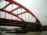 puente de acero de la estructura de acero del arco del tubo del palmo del 100m