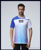 Voetbal Jersey van de T-shirt van de Douane van de Druk van de Sublimatie van het Netwerk van de Polyester van Jersey het Nieuwe Model In het groot 100% van sporten