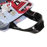 2 Tamaños impermeable Zipper interna de Bolsillo PVC PU Bolsa de compras