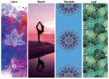 Yoga de la estera de la yoga del caucho natural de la impresión de la mandala con el bolso de la yoga