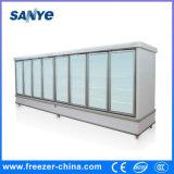 Congelatori di vetro dritti commerciali della visualizzazione dell'alimento Frozen del portello per il supermercato
