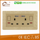 45A 1gangContactdoos Switch+13A met Neon