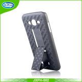 Cas hybride mince de téléphone du pc d'armure pour J3 Prime/J3 2017 avec le cas de Kickstand pour l'iPhone 6/6s