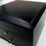 Personifizierter Entwurfs-Schwarz-hölzerner Uhr-Geschenk-Paket-Kasten