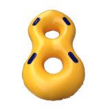 De gele Buis van de Waterski van pvc van de Kleur Opblaasbare Dubbele voor het Park van het Water