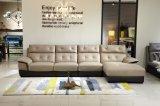 Sofá clássico do couro da mobília da sala de visitas do projeto